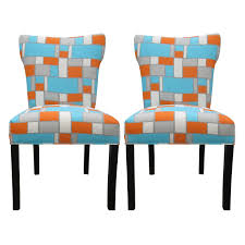 dining room mesmerizing upholstered dining room chairs dining room mesmerizing upholstered dining room chairs modern bella hopscotch orange blue upholstered dining chairs