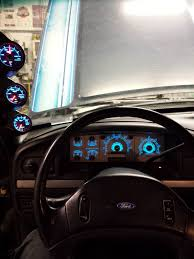 Ford F350 Used Truck Parts - glowshifts bem performace led gauges in my 1993 ford f350 big