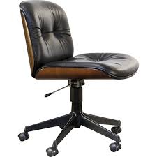 fauteuil de bureau noir fauteuil de bureau noir en palissandre et en cuir de ico parisi pour