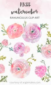 angie makes free watercolor flower clipart