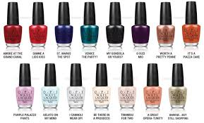 colors of opi manicures for autumn and winter 2017