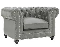 Leather Club Chair Durango Rustic Grey Leather Club Chair U2013 Mathew U0027z