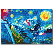 psychedelic home decor trippy home decor joker psychedelic trippy print starry night art