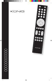 konig kn urc20b remote controller manual
