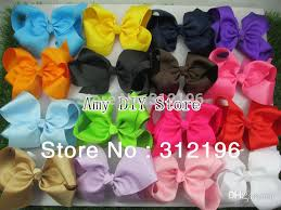 cheap hair bows wholesale 6 inches big grosgrain ribbon hairbows baby hair