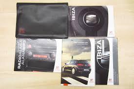 seat ibiza 2006 2008 owners manual handbook radio alana mp3 with