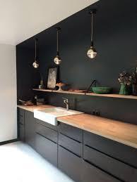 idee cuisine ikea idée aménagement cuisine en longueur le suspendue cuivre cadre