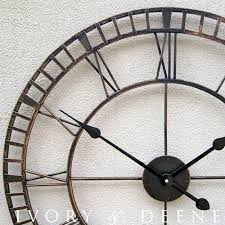 outside wall clocks garden home design ideas