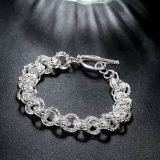 silver plated bracelet charms images Balmora hot silver plated bracelets about 20cm long silver charm jpg