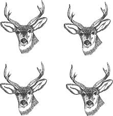 4 deer heads clip art at clker com vector clip art online