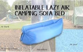 inflatable lazy air camping sofa bed blue lazada ph
