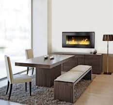 Contemporary Gas Fireplace Insert by Excellent Living Room Design With White Cabinet And White Square