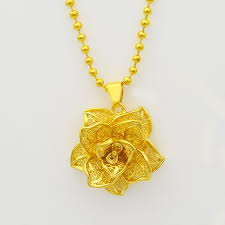 long flower necklace images Gold indian mandala flower pendant necklace fashion jewelry for jpg