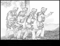 coloring army guy coloring pages