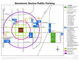Unt Parking Map Discover Denton Original Independent