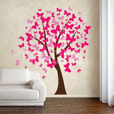 butterflies tree wall decals stickers tattoos
