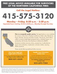 fire relief legal hotline
