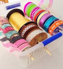 craft ribbon diy organised storage for ribbon string and hometalk
