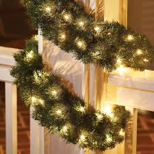 Christmas Garland Decorating Ideas by Decorating Awesome Christmas Decorating Idea With Pretty Pre Lit