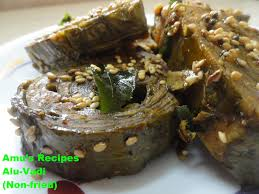 cuisine alu alu vadi recipes recipe