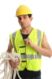 construction worker costume a construction worker builder etc wearing protective