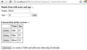 convert json to html table dynamically generate html table using javascript document