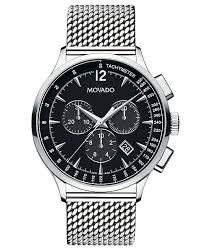 mesh bracelet watches images Movado men 39 s swiss chronograph circa stainless steel mesh bracelet tif