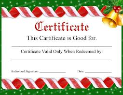 holiday gift certificate template free printable printable with