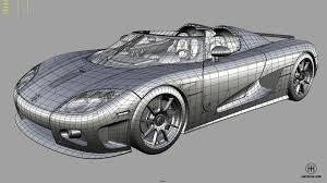 koenigsegg car drawing koenigsegg ccx stig edition in game 3d model next gen u2014 polycount