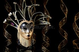 black venetian mask black gold venetian mask stock photo image 52713012