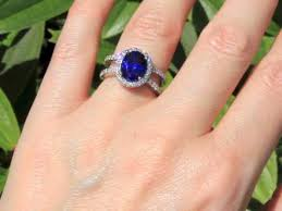 lab created engagement ring miadonna s coco pavé engagement ring with 3 85ct lab created blue