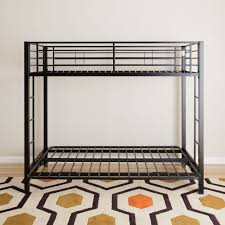 Black Metal Futon Bunk Bed Modern Black Metal Bunk Bed With Futon Free Shipping Today