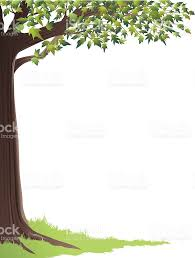 green tree frame stock vector more images of in nature