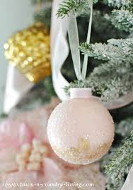 diy pink chagne ornaments town country living