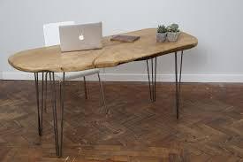 industrial hairpin leg desk eoli handmade industrial chic live edge hairpin leg desk