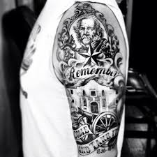 texas texastattoo texasrevolution samhouston a half sleeve of
