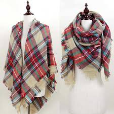 plaid blanket scarf in beige accessorize plaid