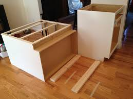 how to build an kitchen island impressing kitchen cabinet how to install island cabinets cute on
