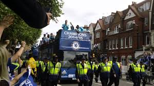 chelsea fc parade 2015 chelsea champions bus with players youtube