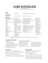 Beginning Actor Resume Sample Dance Resume For College