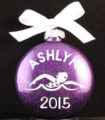 ornament for swimmer personalized ornament for swimmer