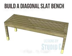 Slat Bench Coffee Table Diy Plans To Build A Stylish Bench U2013 Designs By Studio C