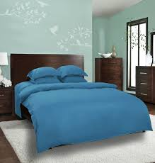 Blue Bed Frame Mrs A Plus Collection Plain Solid Bed Sheets