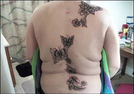 back cover up with looking butterflies design