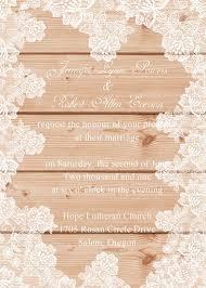 wooden wedding invitations lace wedding invitations at wedding invites part 5