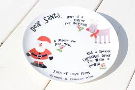 personalised santa plate by the blue owl