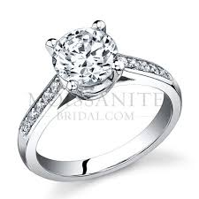 round setting rings images Prong round brilliant channel set sides moissanite engagement ring jpg