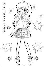 anime coloring book coloring pages