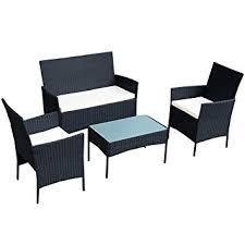 Amazoncom Tangkula  Pcs Wicker Furniture Set Rattan Sofas - Rattan furniture set