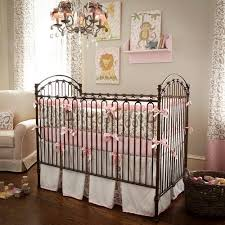 Leopard Crib Bedding Pink And Taupe Leopard Crib Bedding Collection By Carousel Designs